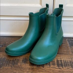 J. Crew Chelsea matte rain boots AC041 Green